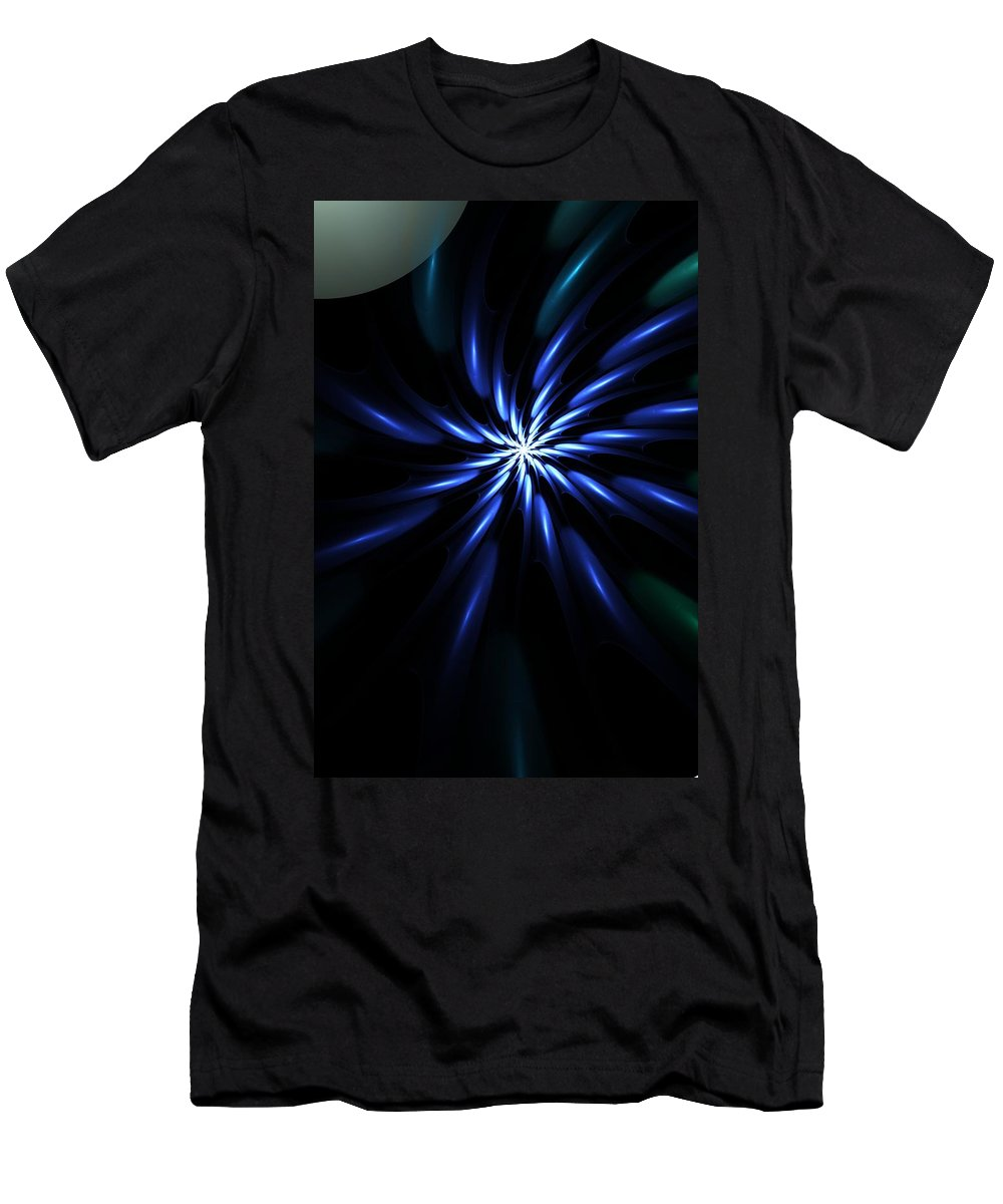 Fine Art Digital Art Men's T-Shirt (Athletic Fit) featuring the digital art Night Bloom by David Lane