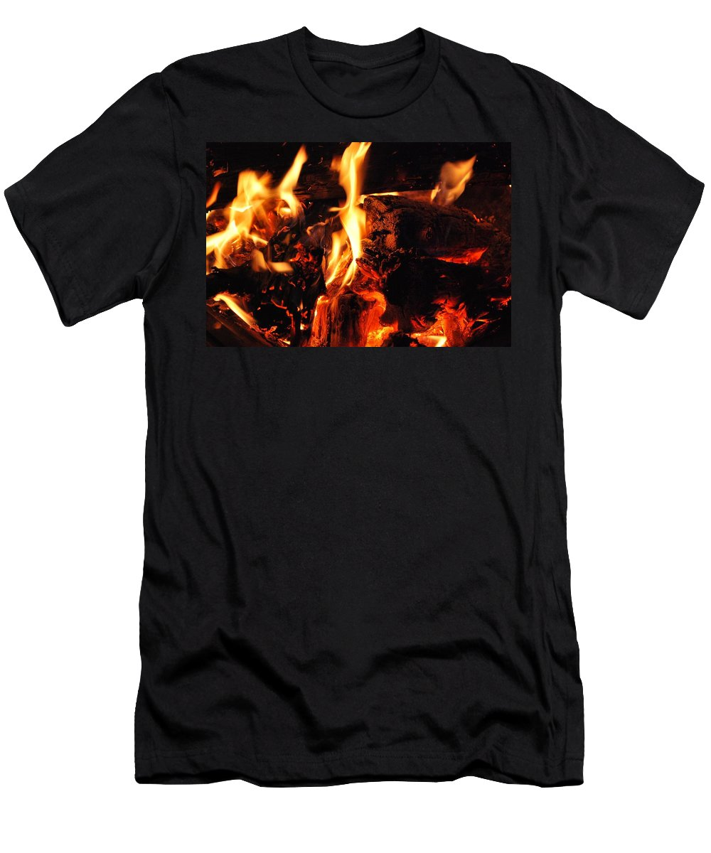 Vvhh Men's T-Shirt (Athletic Fit) featuring the photograph Night Fire by Tyler Knorr
