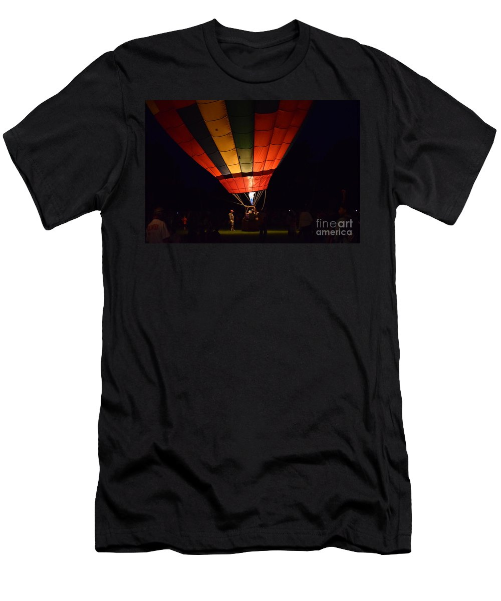 Night Men's T-Shirt (Athletic Fit) featuring the photograph Night Glow by Anita Goel