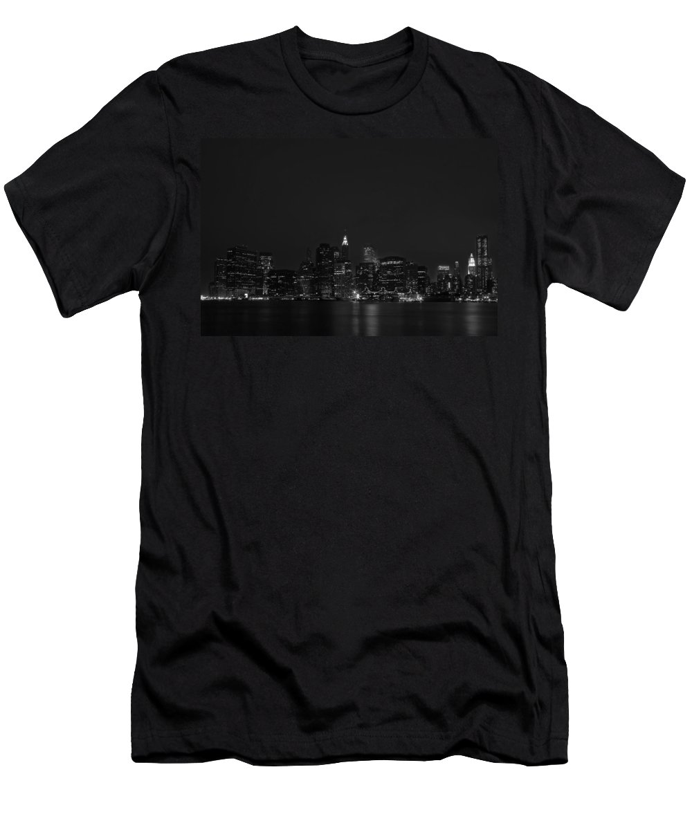 Bridge Men's T-Shirt (Athletic Fit) featuring the photograph Night Lights by Evelina Kremsdorf