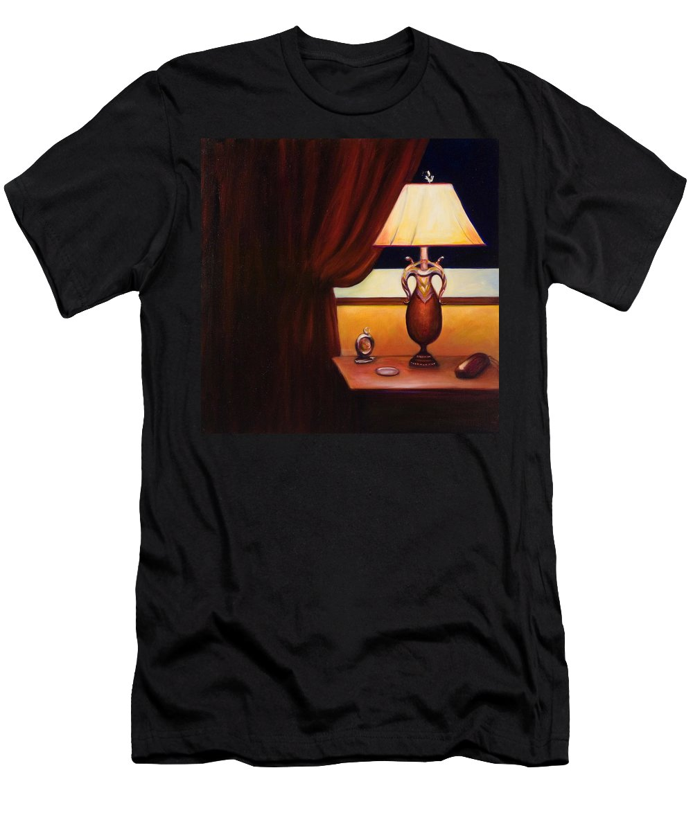 Still Life Red Men's T-Shirt (Athletic Fit) featuring the painting Night by Shannon Grissom