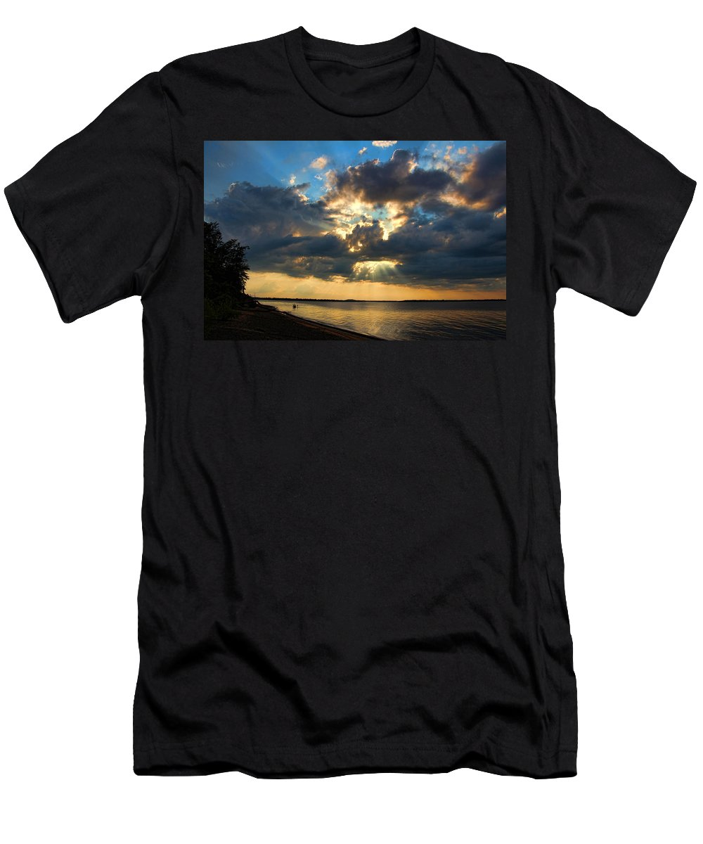 Sunset Men's T-Shirt (Athletic Fit) featuring the photograph Night Shot by Carolyn Fletcher