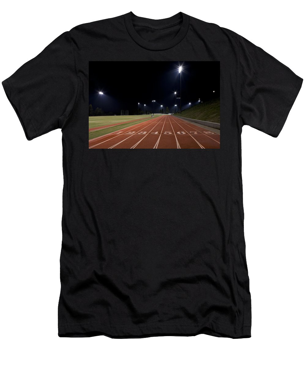 Sports Men's T-Shirt (Athletic Fit) featuring the photograph Night Time Run by Kelley King