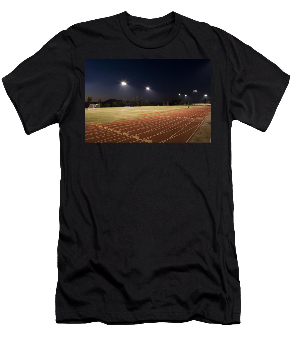 Sports Men's T-Shirt (Athletic Fit) featuring the photograph Night Training by Kelley King