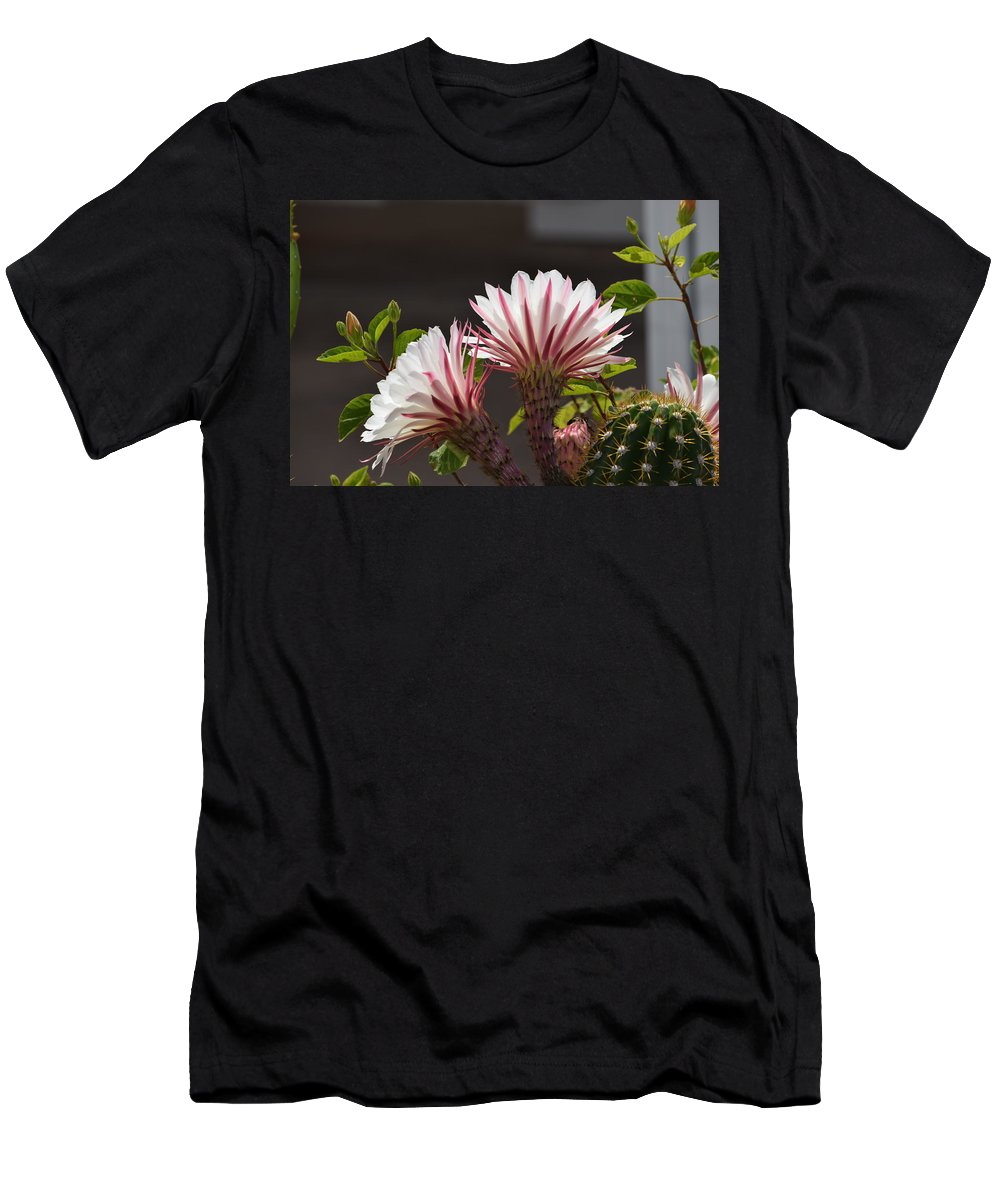 Flowers Men's T-Shirt (Athletic Fit) featuring the photograph Nightbloomer by Diane Barone