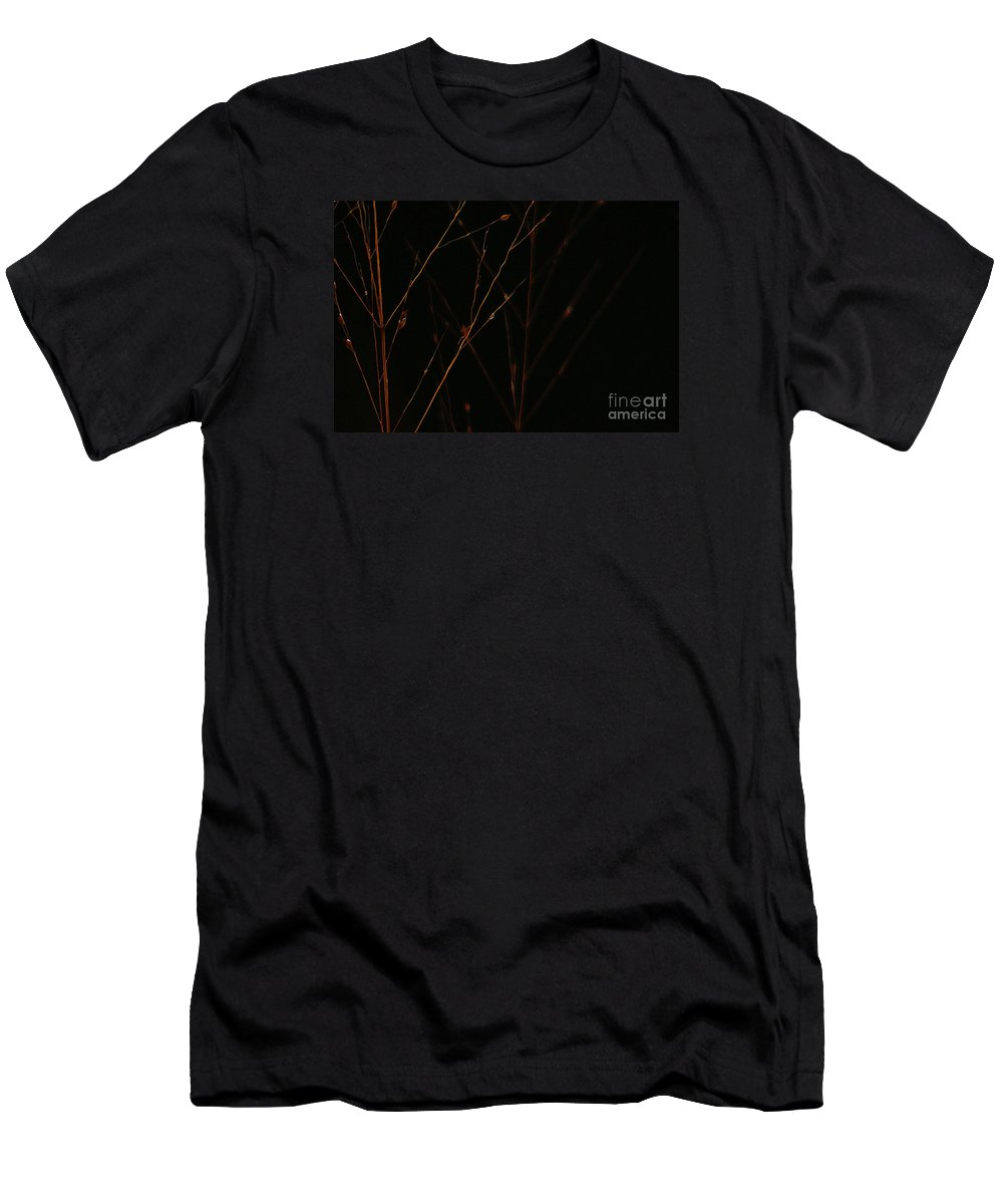 Reed Men's T-Shirt (Athletic Fit) featuring the photograph Nightfall by Linda Shafer