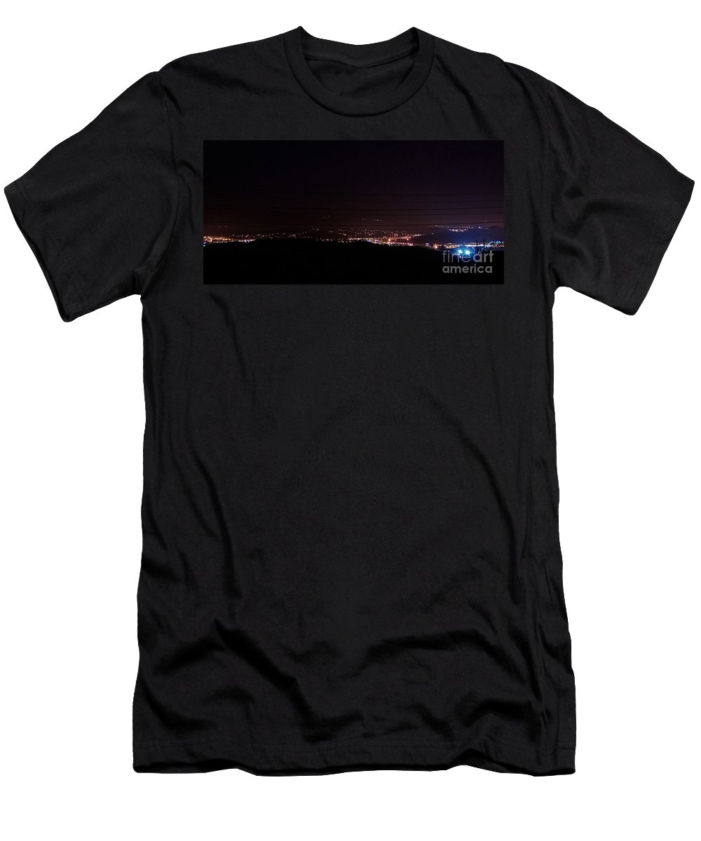 Clay Men's T-Shirt (Athletic Fit) featuring the photograph Nights In The Valley by Clayton Bruster
