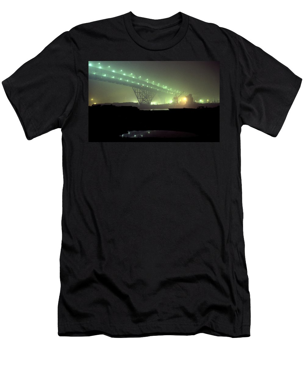 Night Photo Men's T-Shirt (Athletic Fit) featuring the photograph Nightscape 3 by Lee Santa