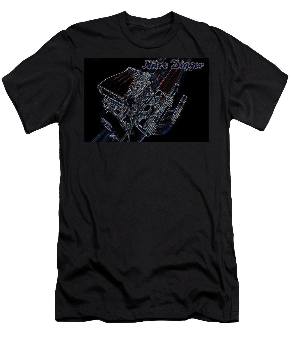 Nitro Men's T-Shirt (Athletic Fit) featuring the digital art Nitro Digger 4 by Darrell Foster