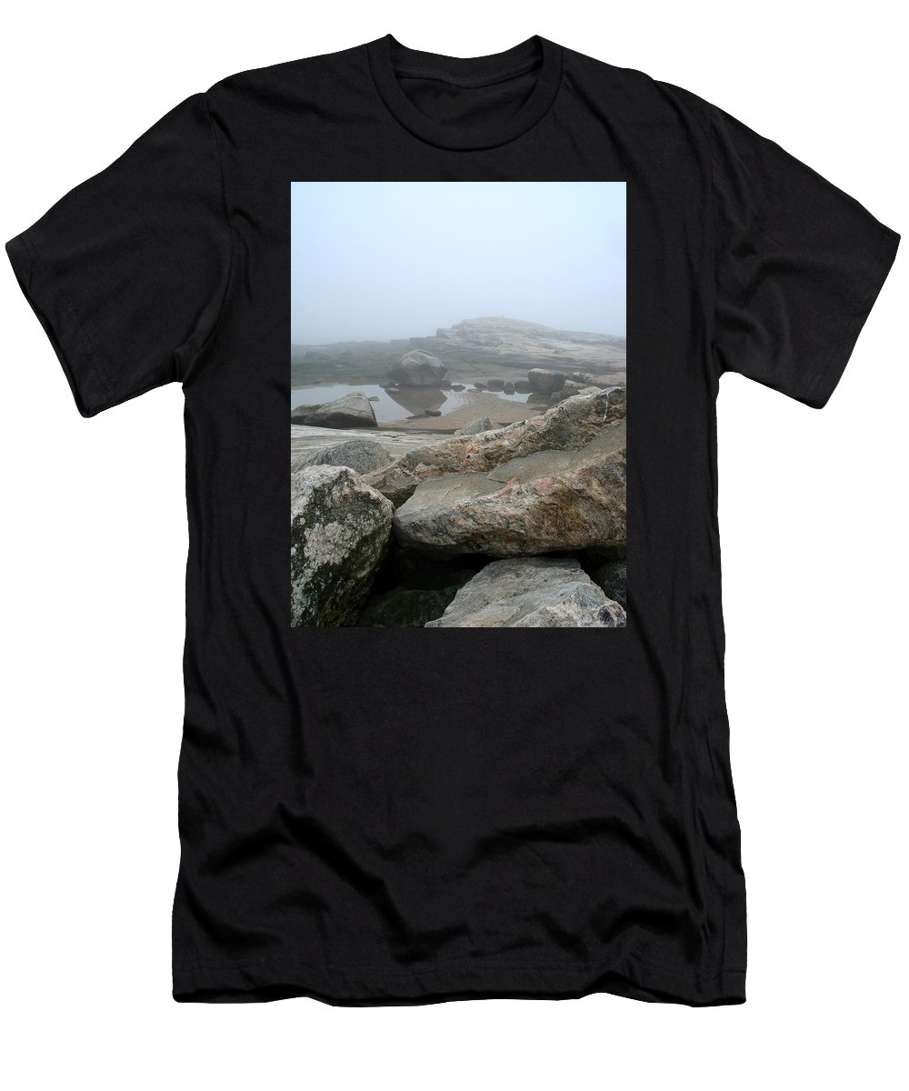 Landscape Men's T-Shirt (Athletic Fit) featuring the photograph No Line On The Horizon by Nelson F Martinez