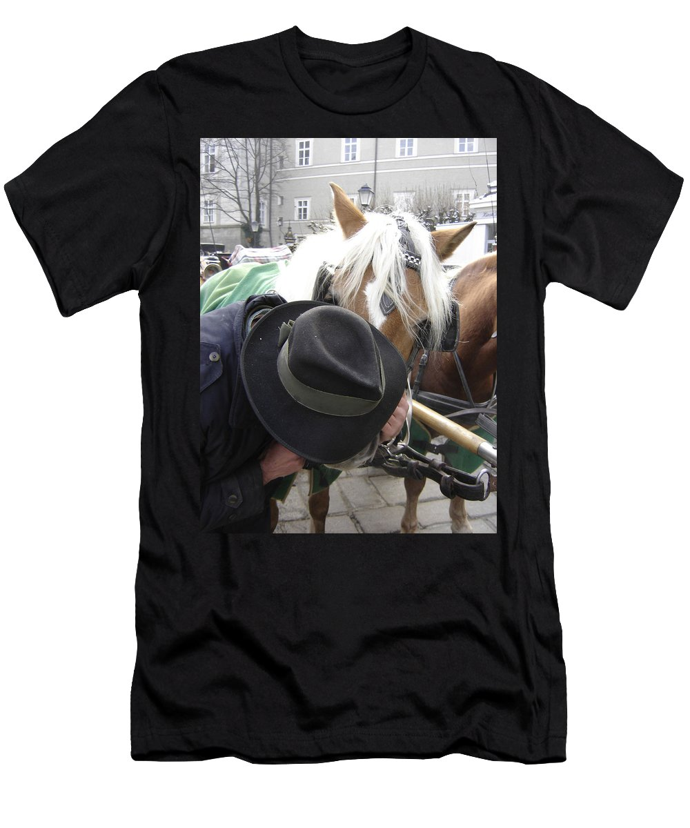 Man Men's T-Shirt (Athletic Fit) featuring the photograph No Secrets by Mary Rogers