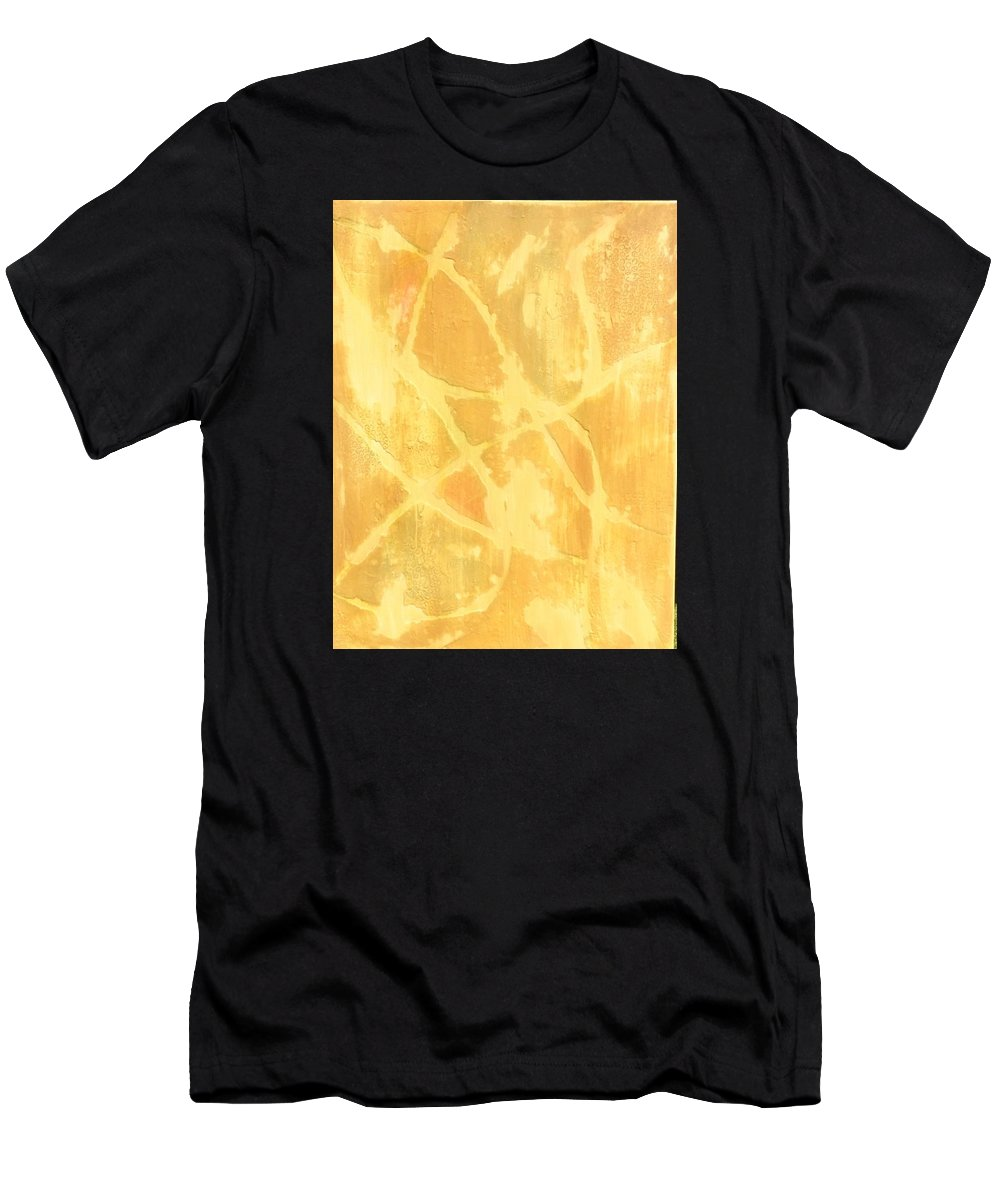 This Is A Acrylic Abstract Painting Men's T-Shirt (Athletic Fit) featuring the painting Wind And Sand by Jerry Cartwright