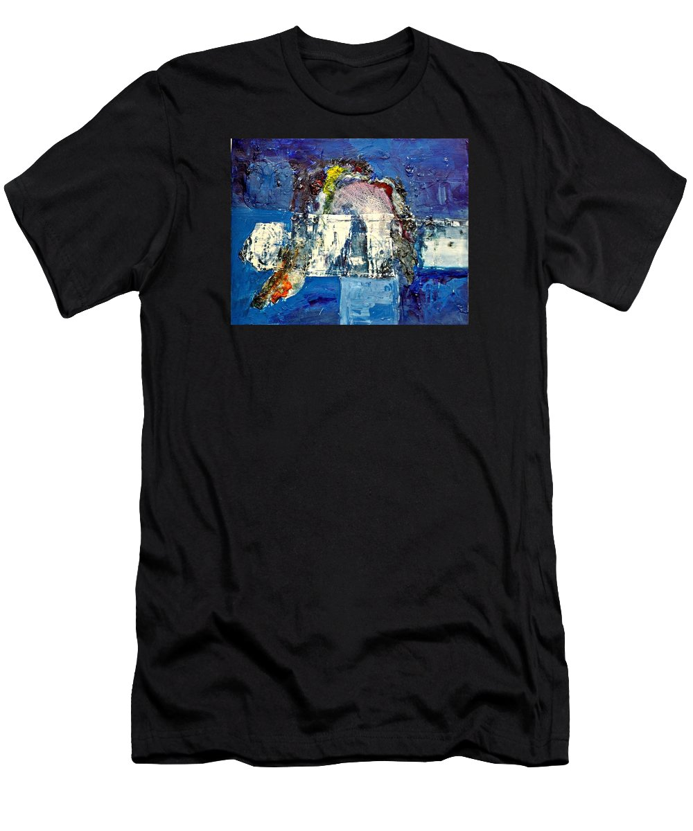 Modern Art Men's T-Shirt (Athletic Fit) featuring the painting No Title by Jona Dividi