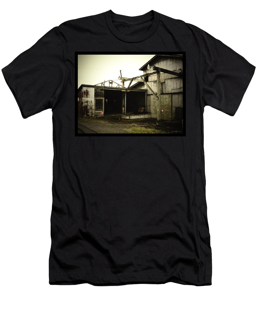 Warehouse Men's T-Shirt (Athletic Fit) featuring the photograph No Trespassing by Tim Nyberg
