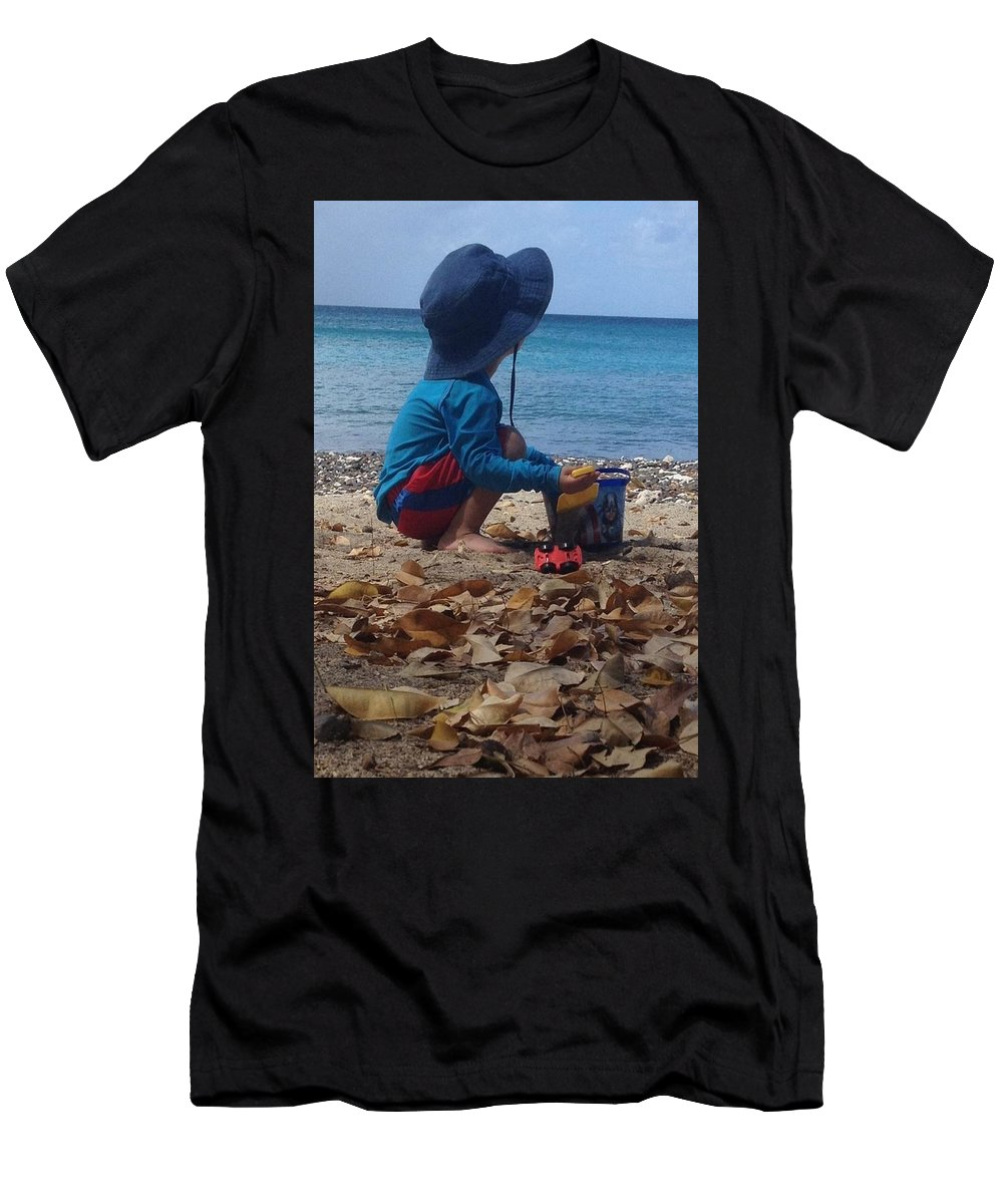 Carefree Men's T-Shirt (Athletic Fit) featuring the photograph No Worries by Sarah Horton
