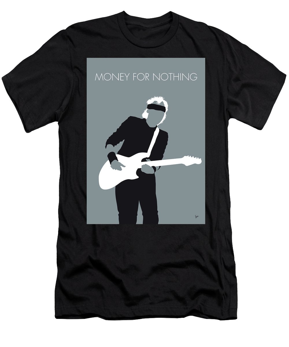 Mark Men's T-Shirt (Athletic Fit) featuring the digital art No107 My Mark Knopfler Minimal Music Poster by Chungkong Art