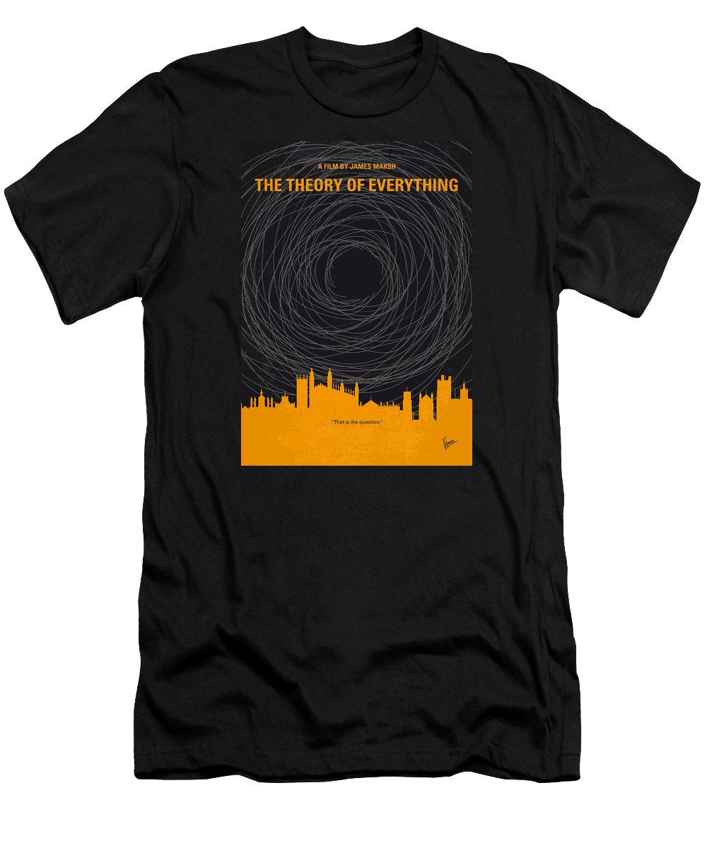 The Men's T-Shirt (Athletic Fit) featuring the digital art No568 My The Theory Of Everything Minimal Movie Poster by Chungkong Art