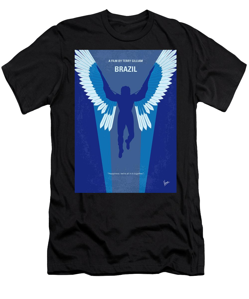 Brazil Men's T-Shirt (Athletic Fit) featuring the digital art No643 My Brazil Minimal Movie Poster by Chungkong Art