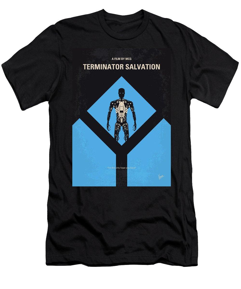 Terminator T-Shirt featuring the digital art No802-4 My The Terminator 4 Minimal Movie Poster by Chungkong Art