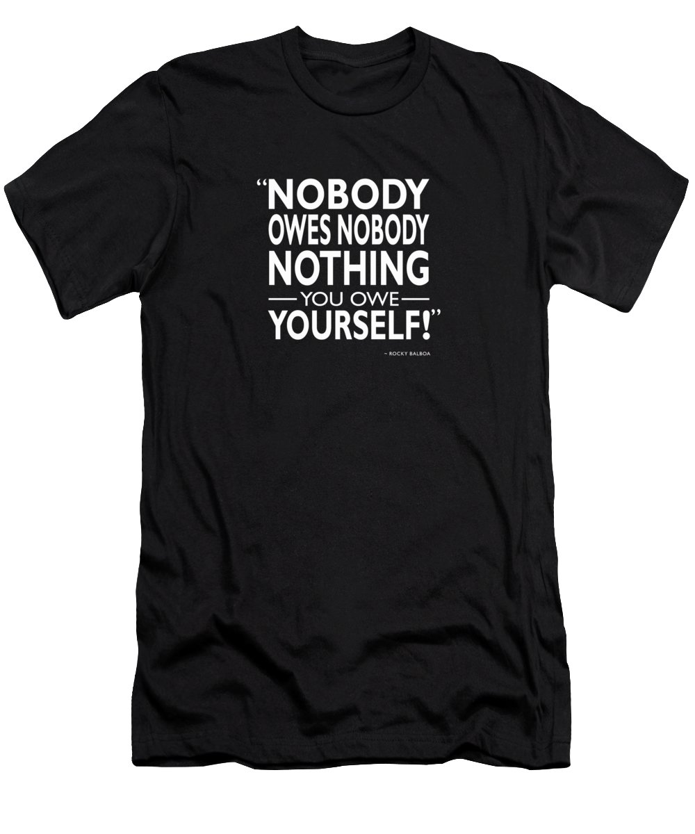 Rocky Men's T-Shirt (Athletic Fit) featuring the photograph Nobody Owes Nobody Nothing by Mark Rogan