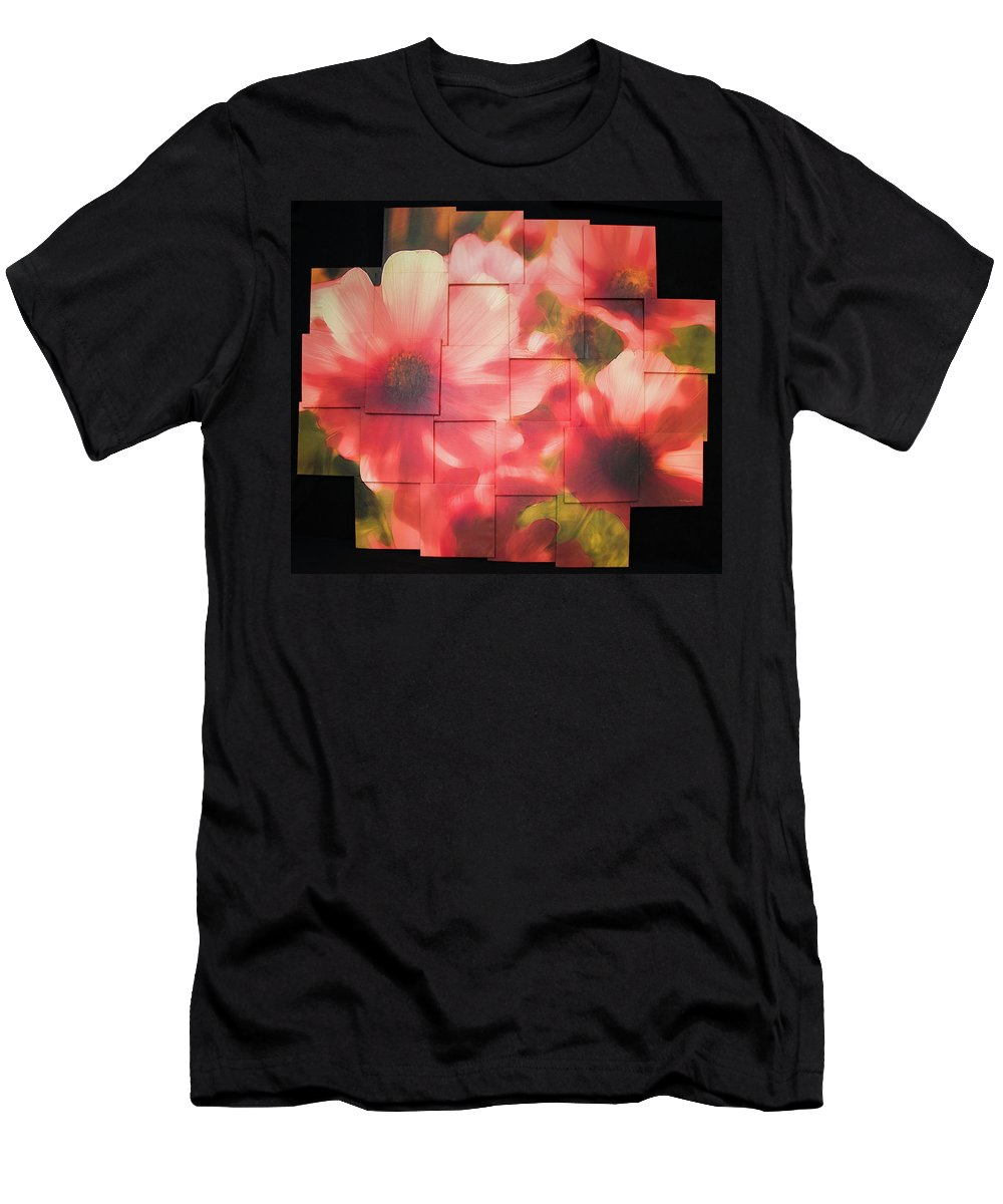 Flower Men's T-Shirt (Athletic Fit) featuring the sculpture Nocturnal Pinks Photo Sculpture by Michael Bessler