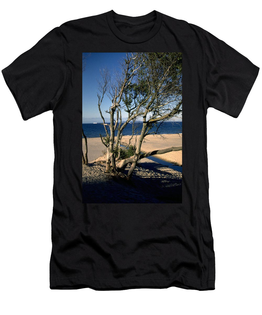 Denmark Men's T-Shirt (Athletic Fit) featuring the photograph Nordic Beach by Flavia Westerwelle