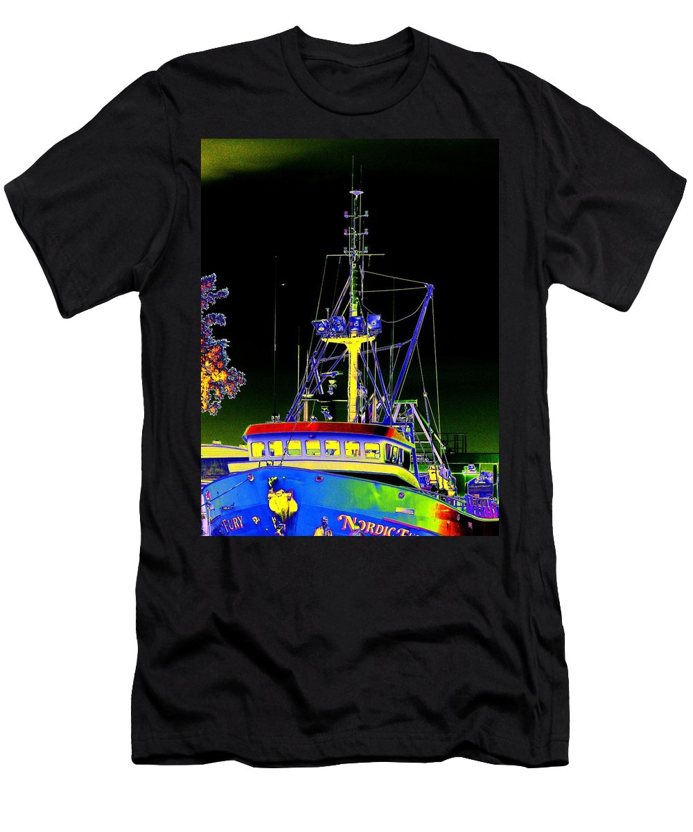 Seattle Men's T-Shirt (Athletic Fit) featuring the digital art Nordic Fury by Tim Allen