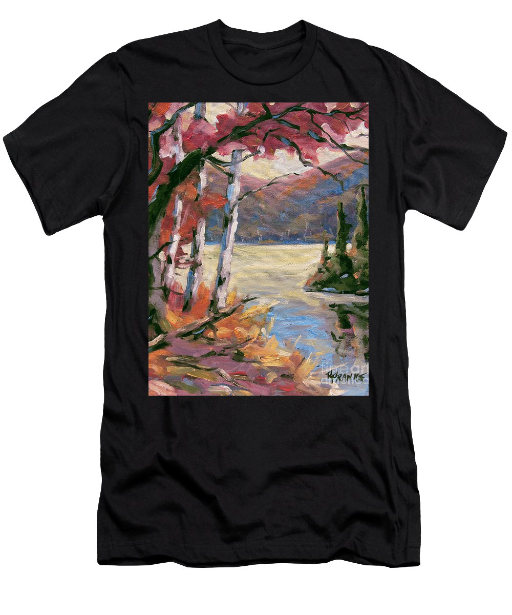 Art Men's T-Shirt (Athletic Fit) featuring the painting North Lake By Prankearts by Richard T Pranke