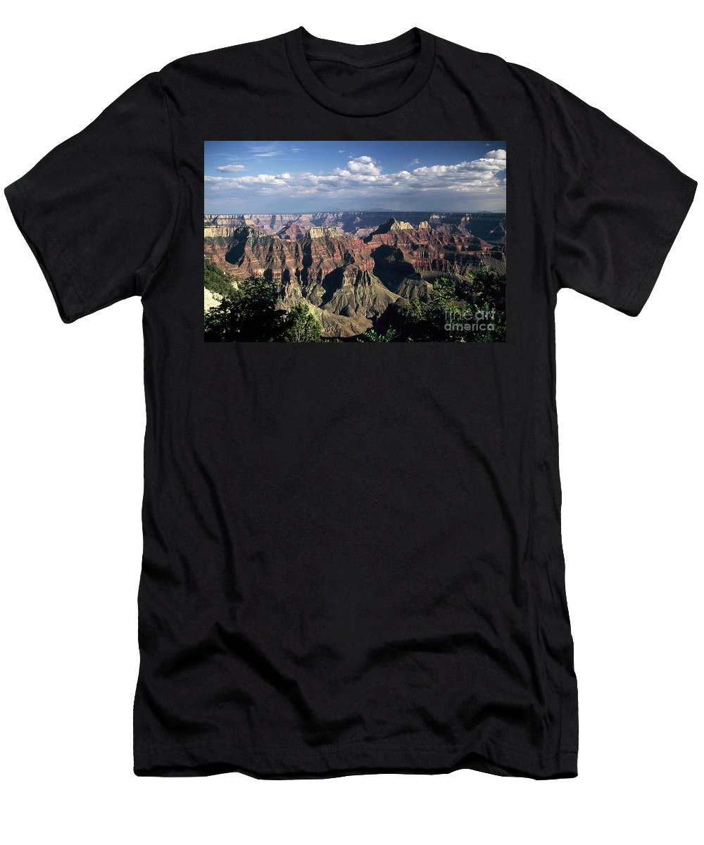 Grand Canyon; National Parks Men's T-Shirt (Athletic Fit) featuring the photograph North Rim by Kathy McClure