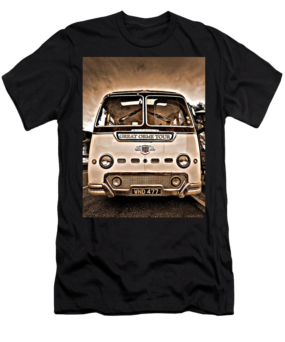 Sepia Men's T-Shirt (Athletic Fit) featuring the photograph North Wales Nostalgia by Meirion Matthias