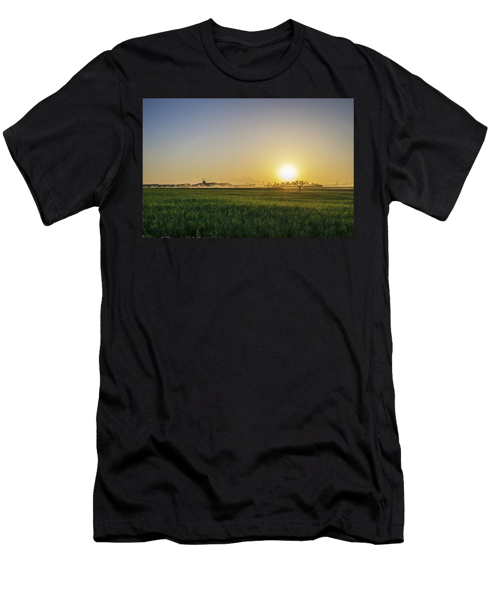 Northern Men's T-Shirt (Athletic Fit) featuring the photograph Northern Maryland Farm Sunrise by Bill Cannon