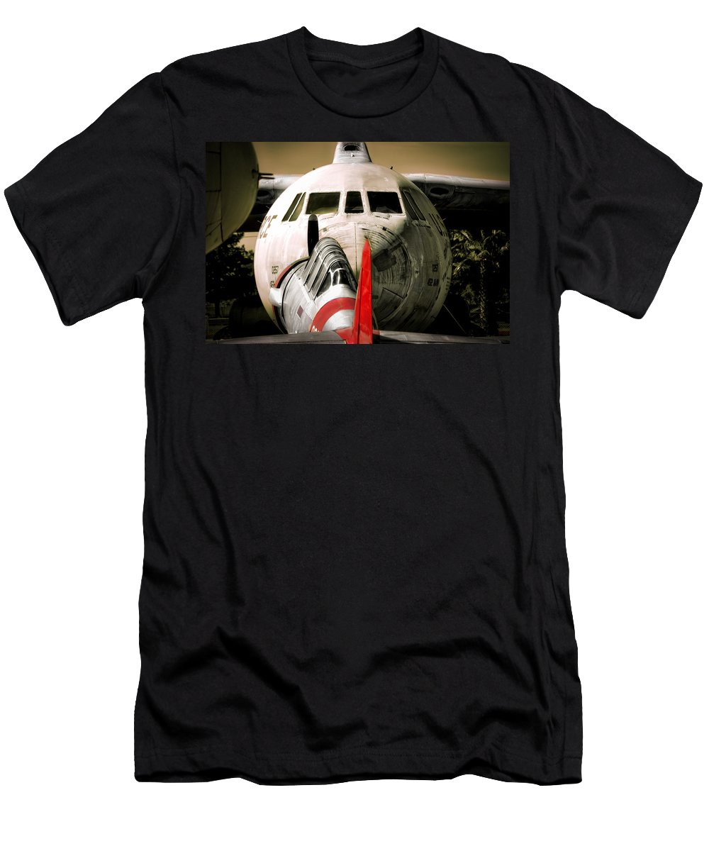 Aircraft Men's T-Shirt (Athletic Fit) featuring the photograph Nose To Nose by Douglas Craig