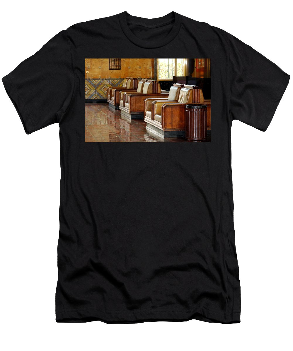 Los Angles Landmarks Men's T-Shirt (Athletic Fit) featuring the photograph Union Station.jpg by Rose Webber Hawke