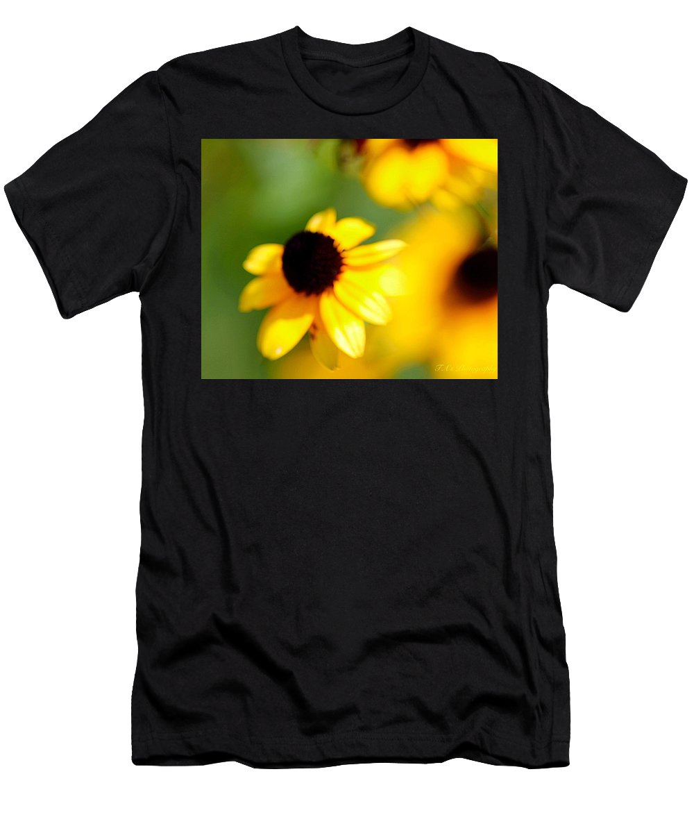 Flowers Men's T-Shirt (Athletic Fit) featuring the photograph Not So 20/20 by Teresa Self