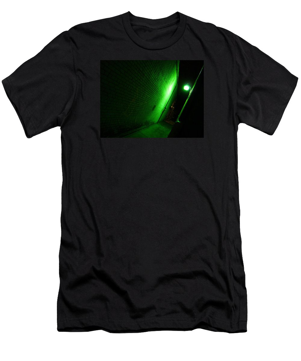 Alley Men's T-Shirt (Athletic Fit) featuring the photograph Nothing But Trouble by Doug Hansen