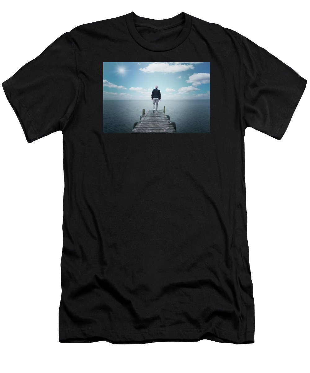 Horizon Men's T-Shirt (Athletic Fit) featuring the digital art Nothing by Filip Filipovic