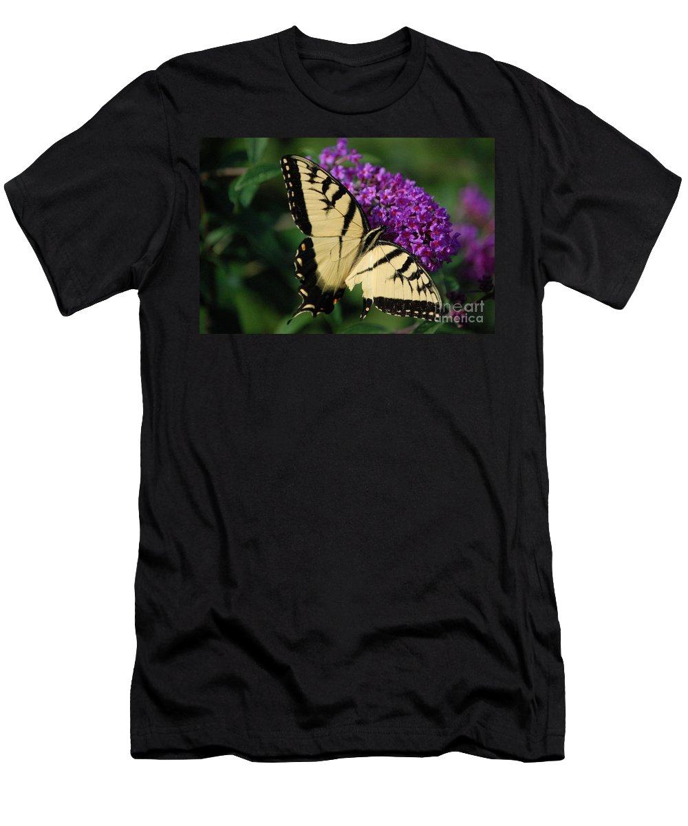 Butterfly Men's T-Shirt (Athletic Fit) featuring the photograph Nothing Is Perfect by Debbi Granruth