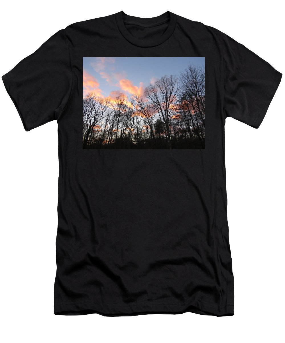 November At Twilight Men's T-Shirt (Athletic Fit) featuring the photograph November At Twilight by Jean Costa