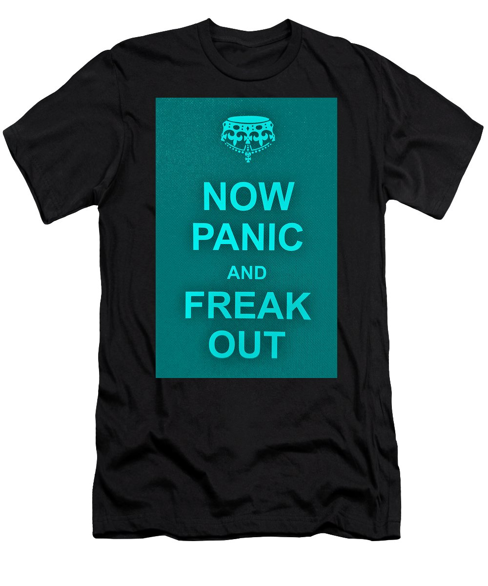 Keep Calm Men's T-Shirt (Athletic Fit) featuring the photograph Now Panic 12 by Rob Hans