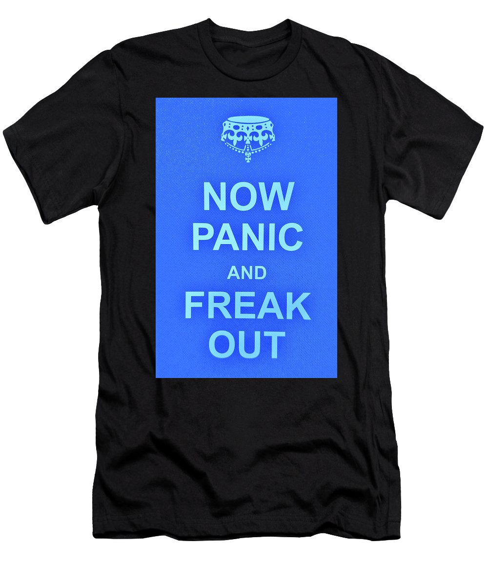 Keep Calm Men's T-Shirt (Athletic Fit) featuring the photograph Now Panic 3 by Rob Hans