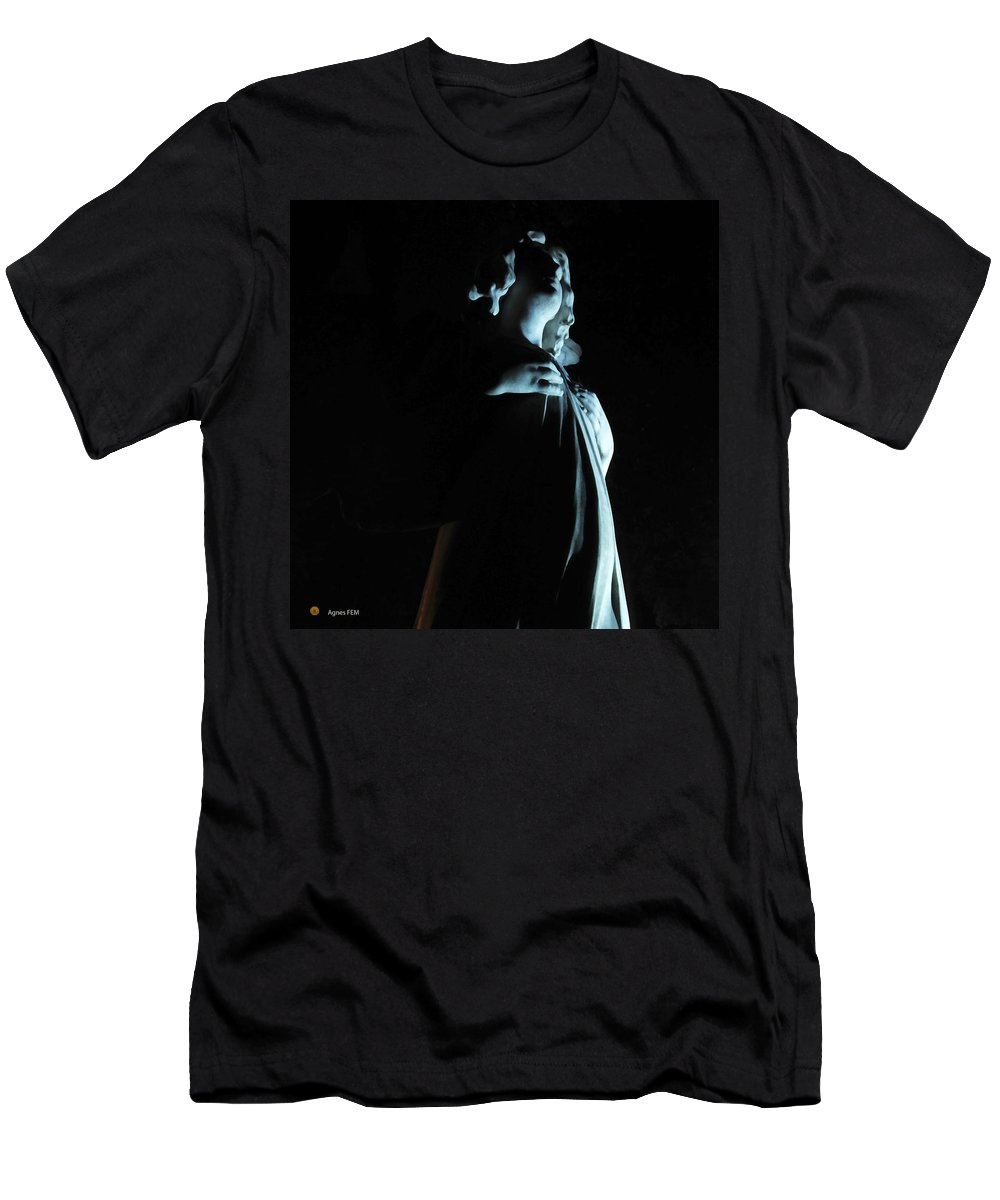 Templo Men's T-Shirt (Athletic Fit) featuring the photograph Now You Shine In The Stars by Agnes Fem