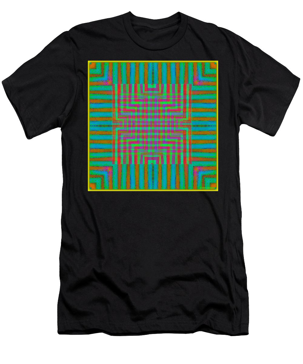 Nu Wall Rug Design Men's T-Shirt (Athletic Fit) featuring the digital art Nu Wall Rug Design by Tony Adamo