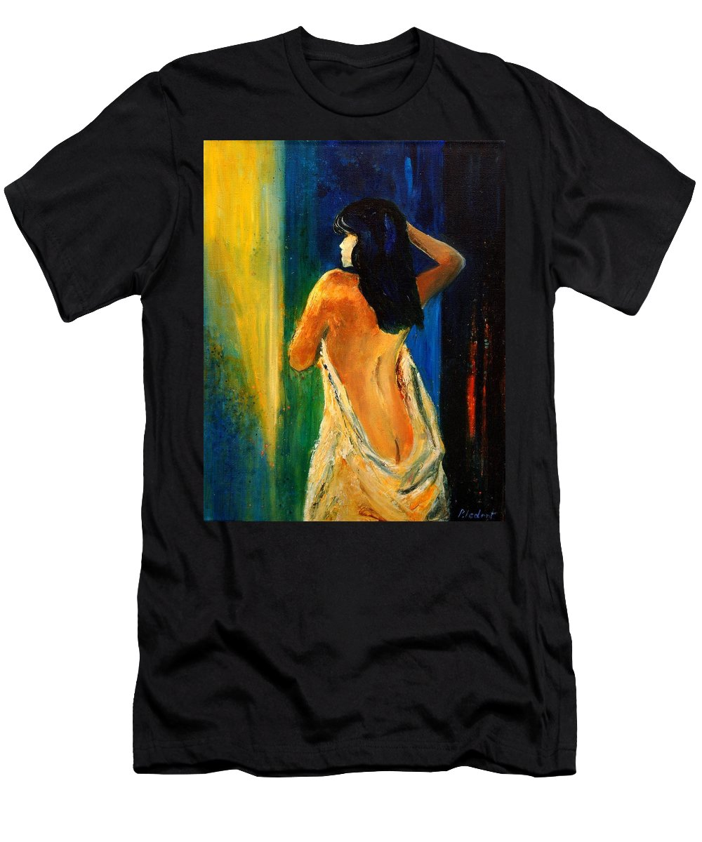 Girl Men's T-Shirt (Athletic Fit) featuring the painting Nude 459070 by Pol Ledent