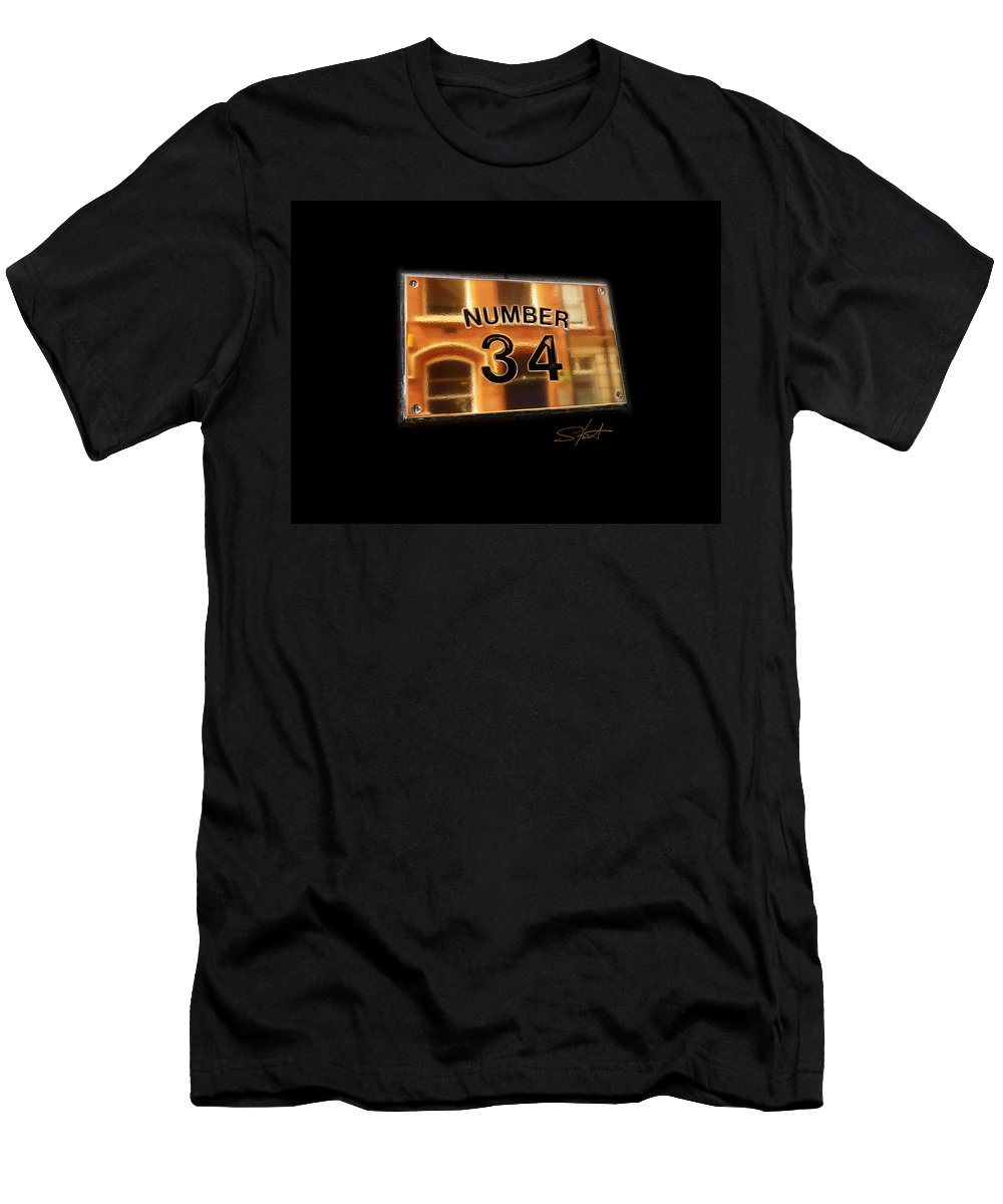 Number Men's T-Shirt (Athletic Fit) featuring the photograph Number 34 by Charles Stuart