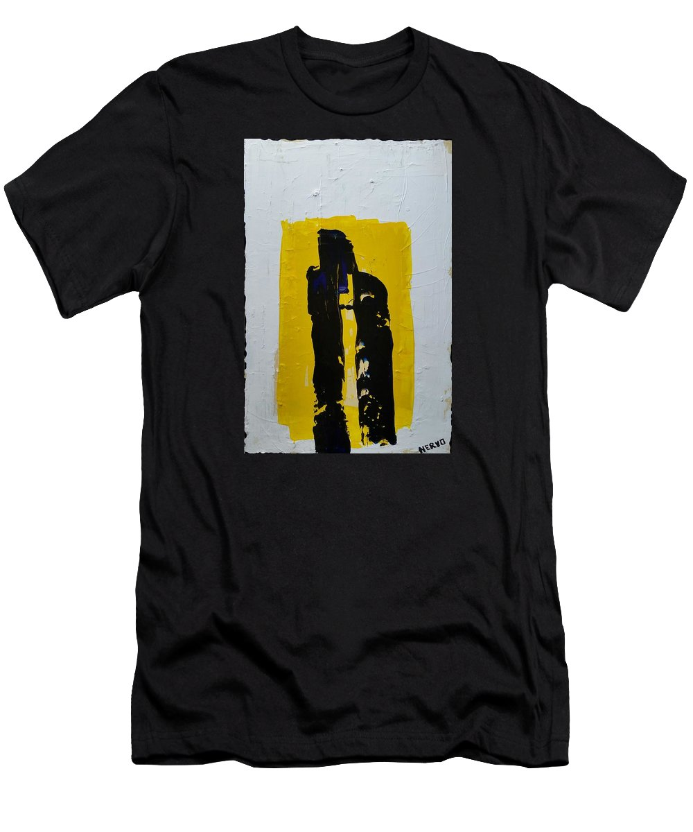 Abstract Men's T-Shirt (Athletic Fit) featuring the painting Nun by Peter Nervo