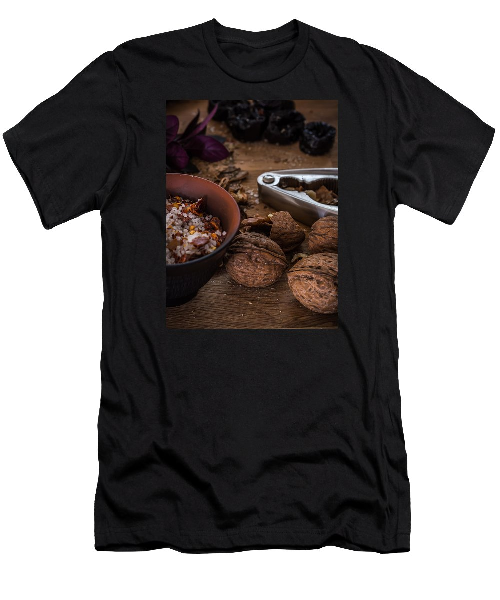 Food Men's T-Shirt (Athletic Fit) featuring the photograph Nuts And Spices Series - Five Of Six by Kaleidoscopik Photography