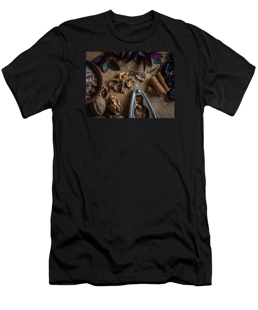 Food Men's T-Shirt (Athletic Fit) featuring the photograph Nuts And Spices Series - Four Of Six by Kaleidoscopik Photography