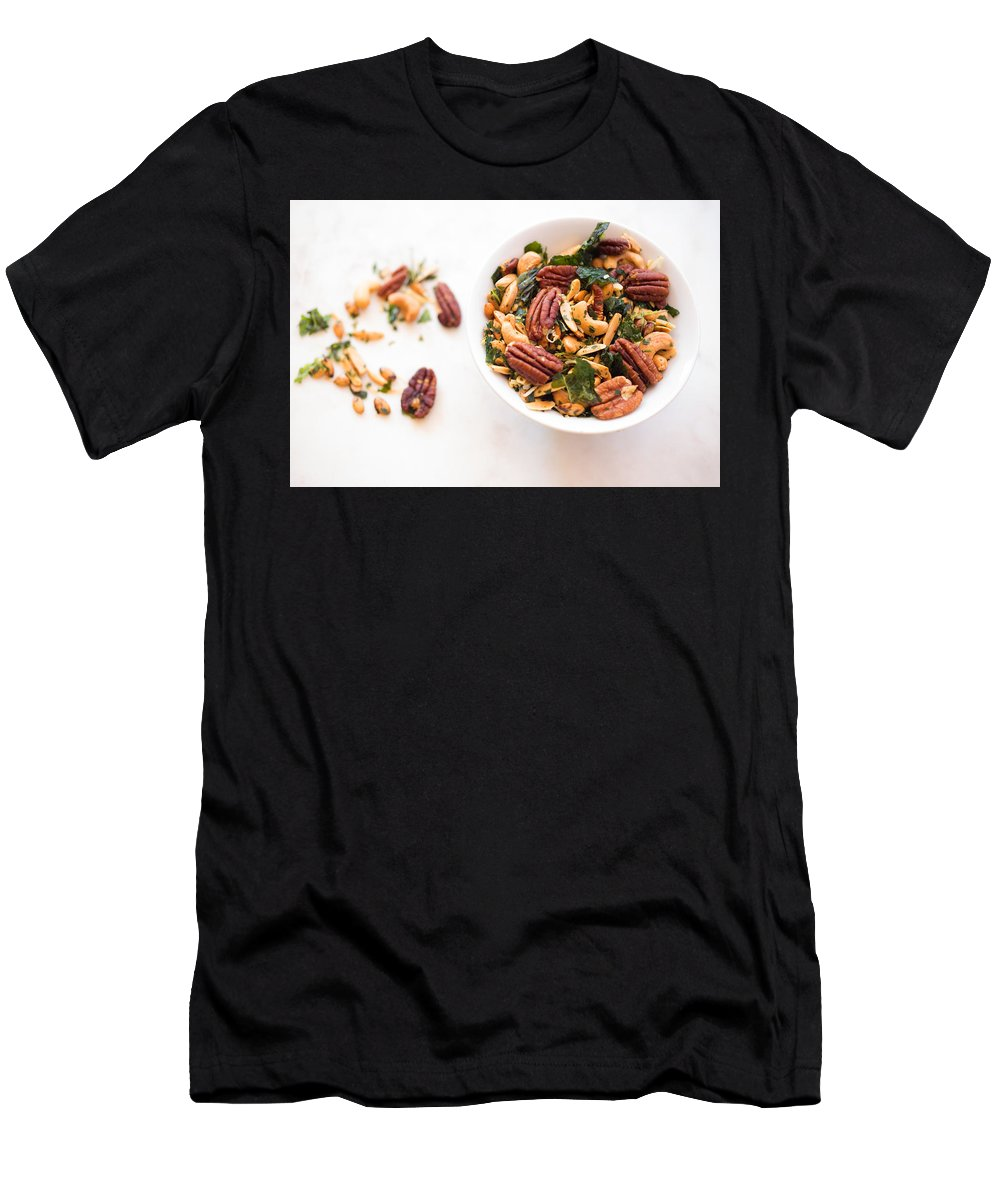 Nuts Men's T-Shirt (Athletic Fit) featuring the photograph Nuts by Marianne Donahoe