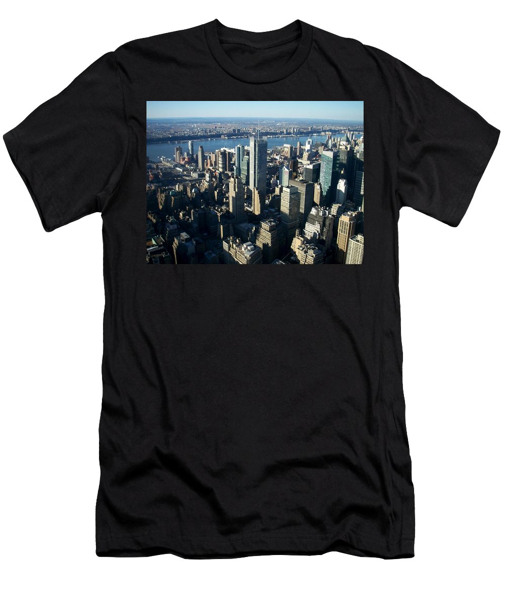 Nyc Men's T-Shirt (Athletic Fit) featuring the photograph Nyc 1 by Anita Burgermeister