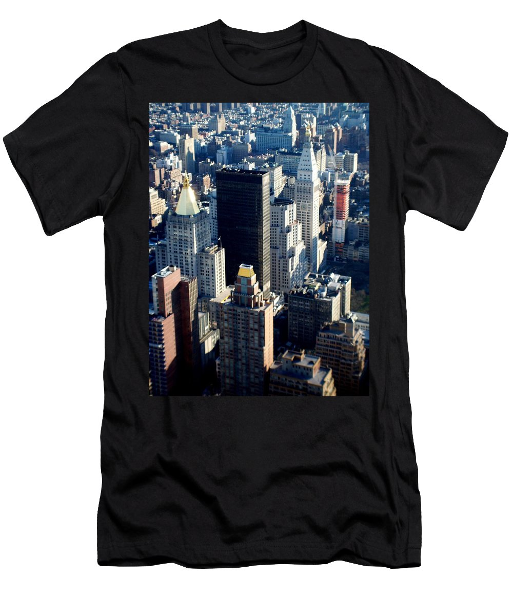 Nyc Men's T-Shirt (Athletic Fit) featuring the photograph Nyc 2 by Anita Burgermeister